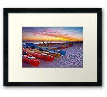 Sunrise, Monkey Mia Framed Print
