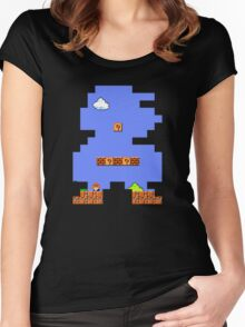 Super Mario Retro Women's Fitted Scoop T-Shirt