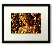 Gold Relief Framed Print