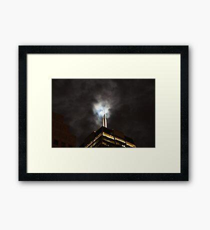 Moonlight and the Skyscraper - San Francisco Framed Print