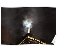 Moonlight and the Skyscraper - San Francisco Poster