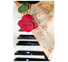 rose and music Poster