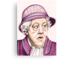 The original Miss Marple : Dame Margaret Rutherford (501 views as at 16th August 2011) Canvas Print