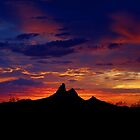 Sunset over Picacho Peak by Cathy L. Gregg