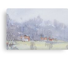 Fog descending Canvas Print