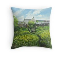 Field of Yellow Throw Pillow