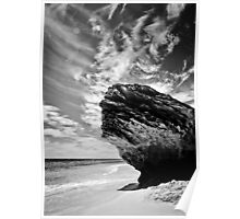 Earth, Sea and Sky in Black and White Poster