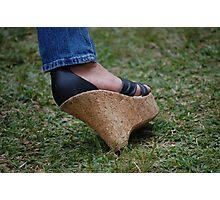 The slanted shoe Photographic Print
