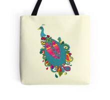 Psychedelic Peacock Tote Bag