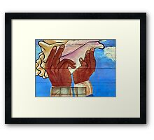 Let's See Some Hands For This Street Artist! Framed Print