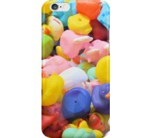 Rainbow Rubber Ducks iPhone Case/Skin