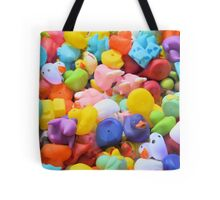 Rainbow Rubber Ducks Tote Bag