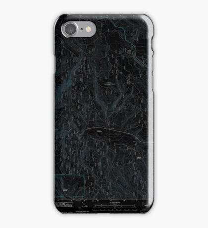 USGS Topo Map Oregon Lehman Springs 20110822 TM Inverted iPhone Case/Skin