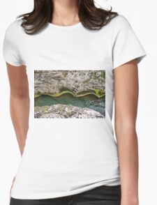 Green water Womens Fitted T-Shirt