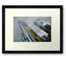 Towers of glass Framed Print