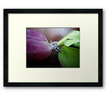 la fleur et le diamant-best viewed large Framed Print