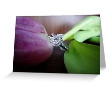 la fleur et le diamant-best viewed large Greeting Card