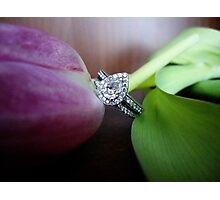la fleur et le diamant-best viewed large Photographic Print
