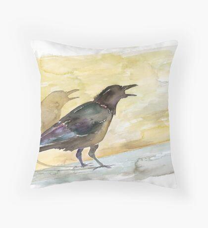 Ravens Shadow Throw Pillow