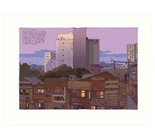 Noborito skyline dawn Art Print