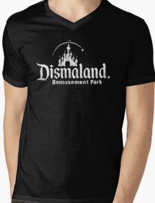 Black and white Dismaland Mens V-Neck T-Shirt