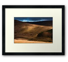 Light and Shade on the Brecons Framed Print