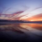Sunset Trio 2 Woolacombe Bay by Lorraine Parramore