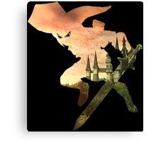 Link and Hyrule - Twilight Princess Canvas Print