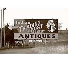 Route 66 - Oklahoma Trading Post Photographic Print