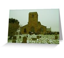 Church of St Mary The Virgin, Leake, North Yorkshire. Greeting Card