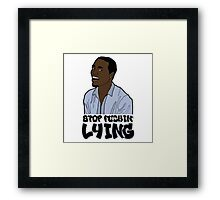 Why You Always Lying ? (Meme/Vine) Framed Print