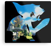 Link and Hyrule - Wind Waker Metal Print