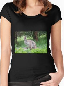 Beautiful Floe & her latest Joey! 'Arilka' Mount Pleasant. Women's Fitted Scoop T-Shirt