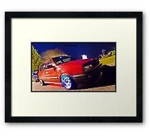 MK3 Golf GTI Light Painted Framed Print