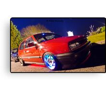 MK3 Golf GTI Light Painted Canvas Print