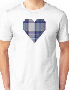 00459 Blue Dunnett Tartan  Unisex T-Shirt