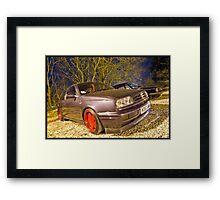 VW MK3 Golf On Borbet A Alloys Framed Print
