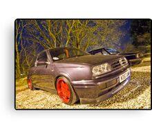 VW MK3 Golf On Borbet A Alloys Canvas Print