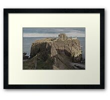The steep and winding path Framed Print