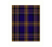 00461 Blue Matheson Hunting Tartan  Art Print