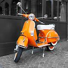 Orange Scooter by Phil Hammond
