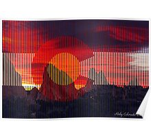 Sunrise over Colorado at Garden of the Gods Poster
