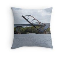 Railway drawbridge over the St. Johns Throw Pillow