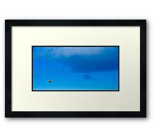 A Spot In The Blue Framed Print