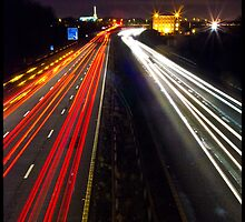 Light Trails On The M61 by Adam Kennedy
