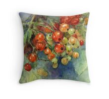 Watercolor Currants Berries painting Svetlana Novikova Throw Pillow