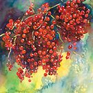 Currants Berries watercolor painting #2 Svetlana Novikova by Svetlana  Novikova