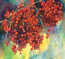 Currants Berries watercolor painting #2 Svetlana Novikova by Svetlana  Novikova