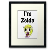 I'm Zelda Framed Print