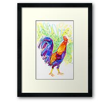 Rooster drawing - 2011 Framed Print